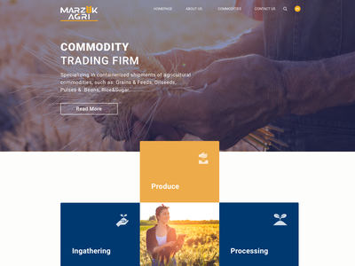 Marzuk Agri Landing Page landing page interface seed farmer ui website farm agriculture web  design