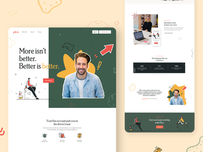 Pliro Landing Page recruiting illustrations work customers job board job landing page landing homepage website clean afterglow ui illustration