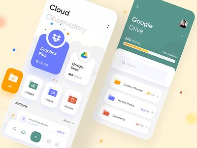 Cloud Manager Mobile App files folder mobile clean app minimal dropbox management app manager cloud