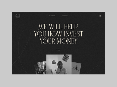 Invest Money Landing Page marketing site marketing website landing minimal money investment investing