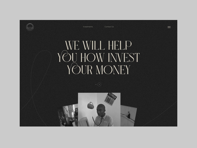 Invest Money Landing Page