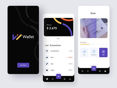 Wallet App billing expenses transfer banking app bank card banking money app logo mobile app dashboard mobile app minimal ui afterglow clean