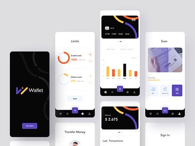 Wallet Bank App money app money transaction bank card bank app banking payment app payments mobile app mobile app minimal afterglow clean