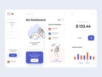 Personal Assistant Dashboard assistant service app service design dashboard minimal ui illustration afterglow clean