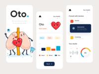 Oto Clinic Mobile App doctor clinics doctors healtcare health branding color mobile app mobile app minimal ui illustration afterglow clean