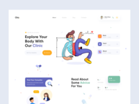 Clinic Landing Page doctor doctors consultation healthcare health website landing illustration afterglow clean