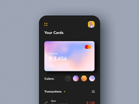 Payments Card Animation bank money app bank card bank app banking payment app payments colors branding mobile app mobile app minimal ui afterglow