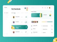 Work Organization Platform charts daily digital graph teamwork manage schedule scheduler organizer interface ux design dashboard mobile app minimal ui illustration afterglow clean