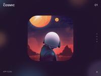 App Icon logo ui icon 3d illustration 3d icon 3d icon design art web ios space cosmic iconography big sur animation mobile app mobile app ui illustration icon