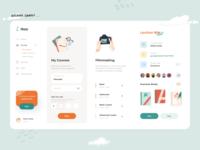 Courses Dashboard user interface social app social admin dashboard task list web interface courses app courses design dashboard app minimal ui illustration clean