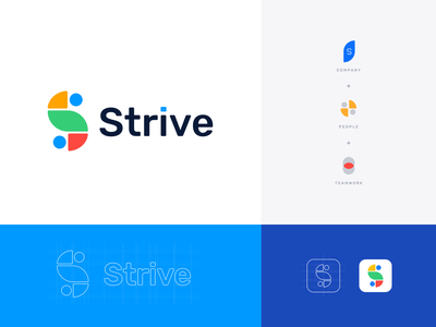 Strive Logotype it solutions it services it company pattern colors logo design logo mark logotype brand identity brand design branding logo minimal clean