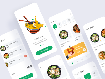 Delivery App vegetables vegetarian cards pricing filters offer screens illustrations clean ui food delivery delivery app food app food mobile app mobile app minimal clean