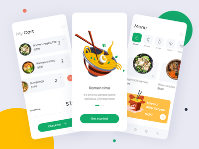 Food Delivery App order ordering cards offer vegetarian vegetation vegetable delivery service delivery app food delivery food app food mobile app mobile app minimal ui illustration clean