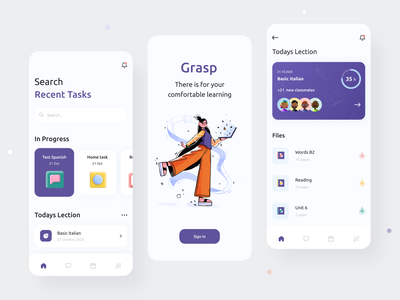 Task Manager Mobile ios education ux daily digital task list interface search splash file manager files task manager tasks design mobile app mobile app ui clean illustration