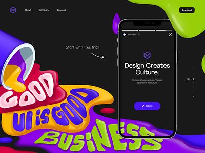 Design System App ui design ui  ux colorful typography color design mobile app landing mobile afterglow app ui illustration