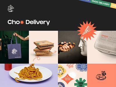 Choo Delivery Branding food illustration food and drink order delivery app food app service food delivery website mobile app landing afterglow app minimal