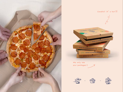 Choo Delivery #2 pizza box video delivery app identity branding delivery order food app identity branding design landing mobile afterglow app clean