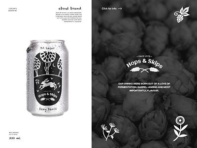 Hops Skips Beer logo logo design beer label beer branding brand identity branding illustration