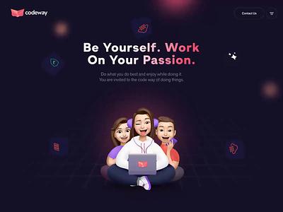 Website for Codeway.co design ui clean mobile app codeway game design rebranding games studio studio app branding landing page website games design games illustrations