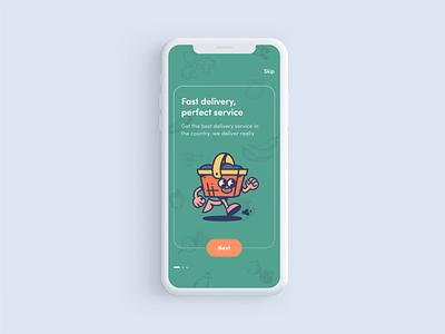 Delivery App MVP app mobile app mobile branding illustration clean mvp food app delivery motion graphics ui animation