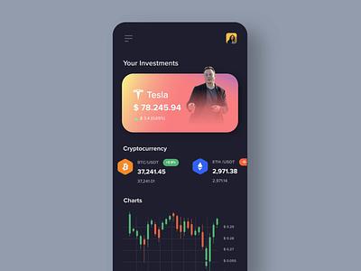 Investment Mobile App trade app trading app design money finance app bitcoin crypto investment app mobile app mobile