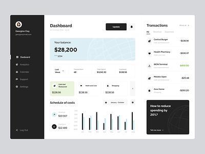 Finance Analytics Dashboard minimal analytics dashboard finance dashboard finance banking app banking dashboard clean