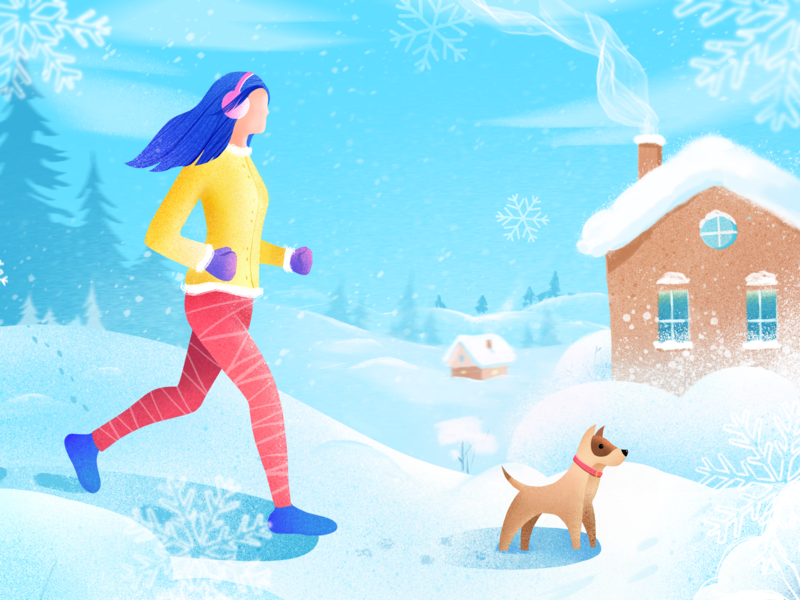 Winter Illustration art illustration clean winter afterglow