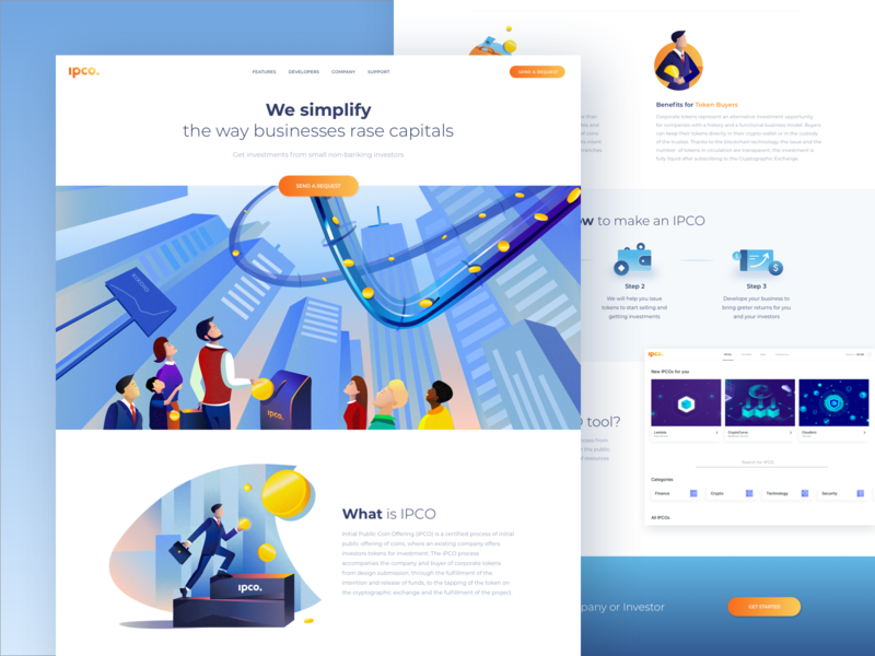 IPCO Landing page icon icons design modern illustration ipco payment token business minimal illustration landing clean bitcoin coins ico