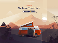 Travel App Homepage