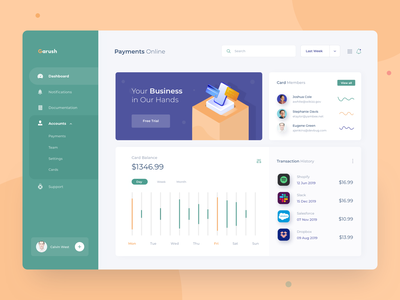 Payments Dashboard payment dashboard business minimal illustration clean bank pay payments dashboard