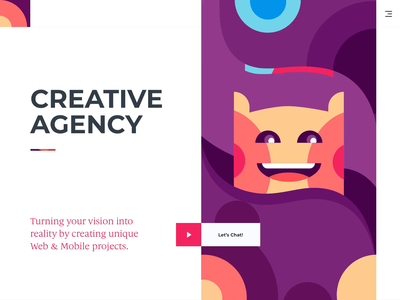 Landing Page - Creative Agency agency website agency creative minimal marketing character pattern animation landing clean