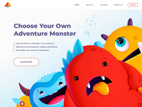 Monsters - Landing Page