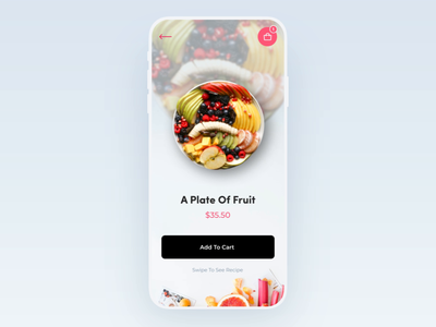 Mobile App - Food Recipes order food animation restaraunt food food app app clean