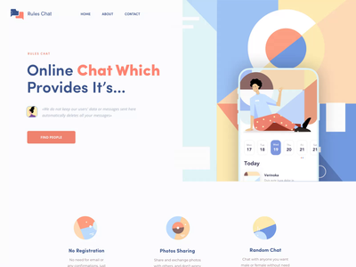 Rules Chat - Landing Page animation chat app app pattern illustration landing chat