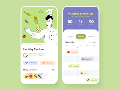 Healthy Recipes - Mobile App