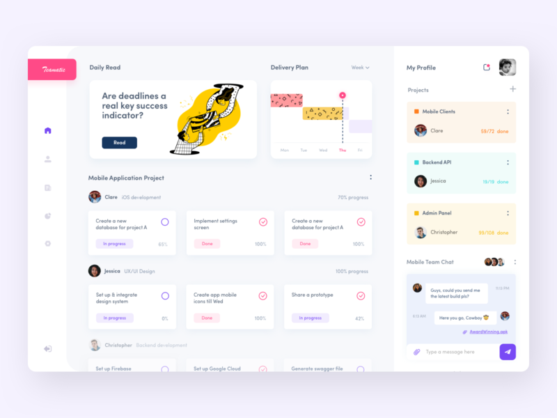 Project Management Dashboard jira collaboration success mobile application workflow team teamwork tools management dashboard design dashboard afterglow minimal illustration ui clean