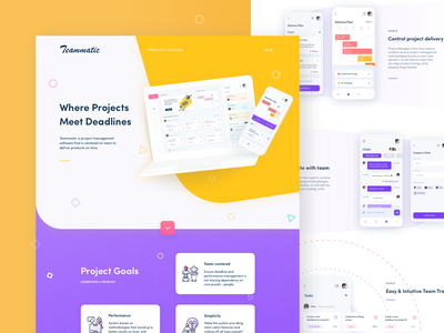 Teammatic - Product Case Study product design product page collaboration management tool management dashboard case study website minimal landing illustration ui afterglow clean