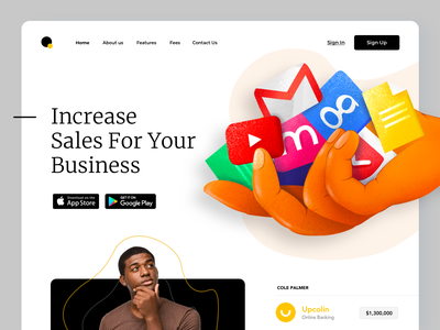 Website Design - Visual Marketing social proof rates business sales marketing website landing illustration ui clean