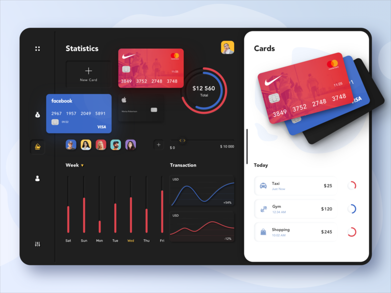 Payment Dashboard cards credit cards banking bank app money transactions payment app payments ui afterglow clean minimal dashboard design dashboad