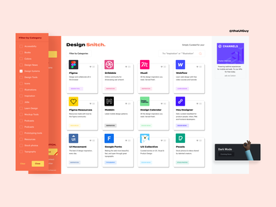 Design Snitch user inteface design system web design design resources ui design design