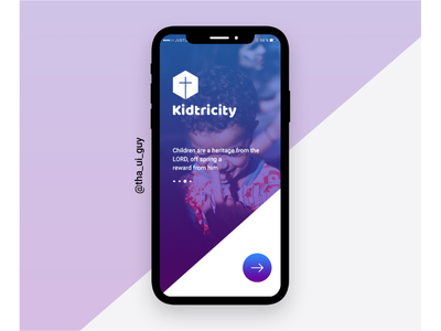 Kidricity App web ux ui mobile layout gif desktop design concept app animation