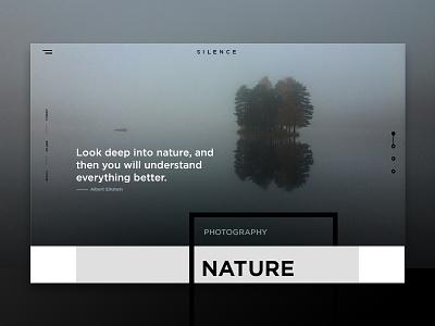 Website design nature photography ixda ux typography layout design webdesign
