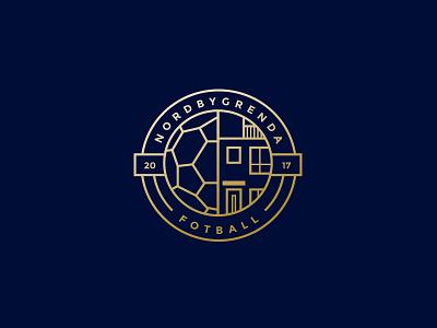 Nordbygrenda Fotball symbol logomark brand identity fotball typography branding design logo