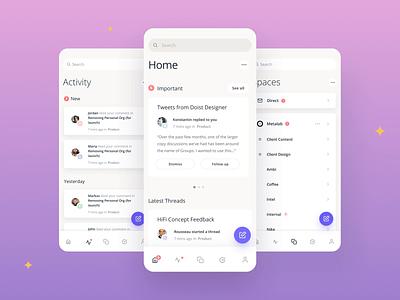 Threads minimal product design desktop ios app ux ui