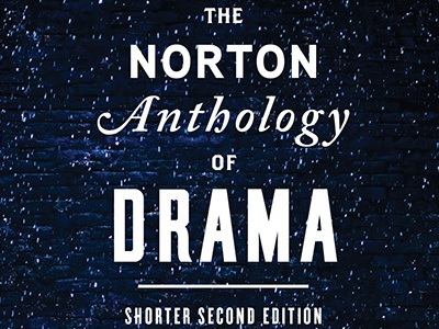 The Norton Anthology of Drama book cover typography title treatment