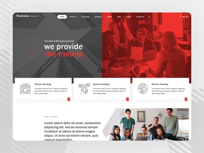 Corporate Business - Creative Parallax PSD Design PSD Template