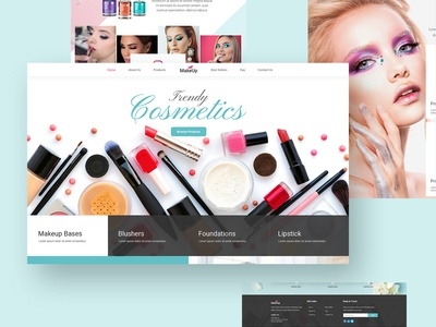 Beautiful Make Up Company Creative Parallax Design PSD Template