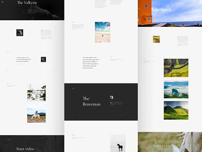 Horses fashion dashboard desktop black  white photo typography uiuxdesign ui desgin minimalist minimalism minimal landign page website web  design