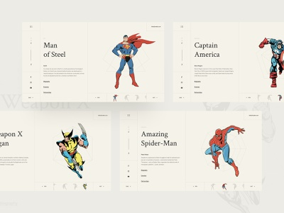 Marvel DC crossover website vintage style design website marvel vintage minimalism smart home monitoring analytics cards chart uidesign ui mobile ios iphonex android dashboard profile location search dropdown