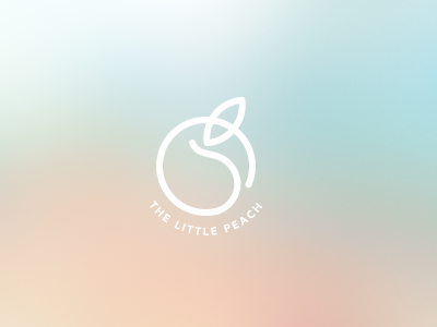 Logo | The Little Peach food minimal logotype logo identity branding